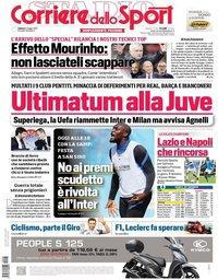capa Corriere dello Sport de 8 maio 2021