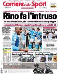 capa Corriere dello Sport de 9 maio 2021