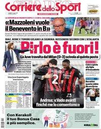 capa Corriere dello Sport de 10 maio 2021