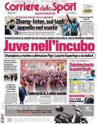 capa Corriere dello Sport de 11 maio 2021