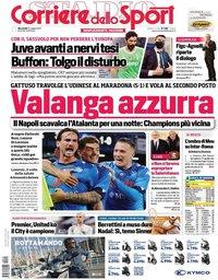 capa Corriere dello Sport de 12 maio 2021