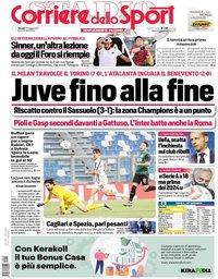 capa Corriere dello Sport de 13 maio 2021