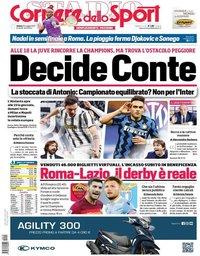 capa Corriere dello Sport de 15 maio 2021