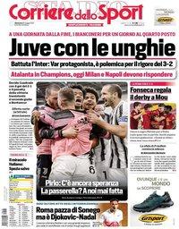 capa Corriere dello Sport de 16 maio 2021