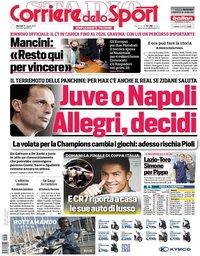 capa Corriere dello Sport de 18 maio 2021