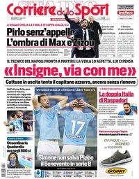 capa Corriere dello Sport de 19 maio 2021