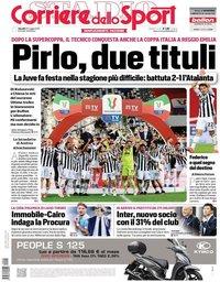 capa Corriere dello Sport de 20 maio 2021
