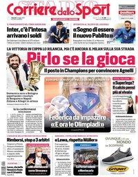 capa Corriere dello Sport de 21 maio 2021