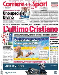 capa Corriere dello Sport de 22 maio 2021