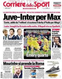 capa Corriere dello Sport de 27 maio 2021