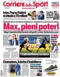 capa Corriere dello Sport de 29 maio 2021