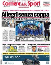 capa Corriere dello Sport de 30 maio 2021
