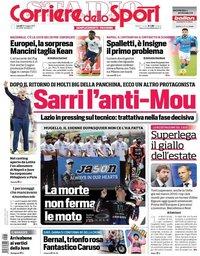 capa Corriere dello Sport de 31 maio 2021