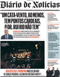 capa Diário de Notícias de 2 maio 2021