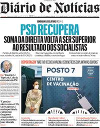 capa Diário de Notícias de 3 maio 2021
