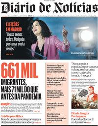 capa Diário de Notícias de 4 maio 2021