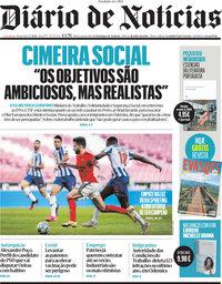 capa Diário de Notícias de 7 maio 2021