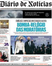 capa Diário de Notícias de 8 maio 2021