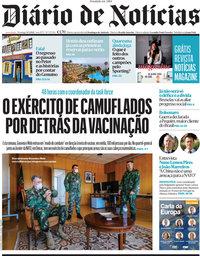 capa Diário de Notícias de 9 maio 2021