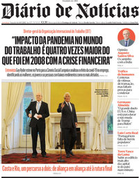 capa Diário de Notícias de 10 maio 2021