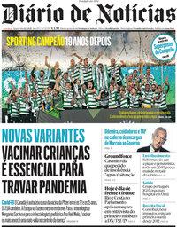 capa Diário de Notícias de 12 maio 2021