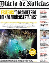 capa Diário de Notícias de 13 maio 2021