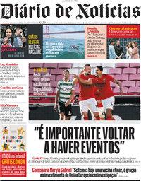 capa Diário de Notícias de 16 maio 2021