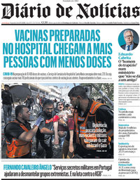 capa Diário de Notícias de 17 maio 2021