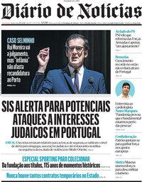 capa Diário de Notícias de 19 maio 2021