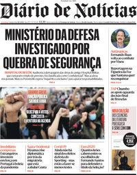 capa Diário de Notícias de 20 maio 2021