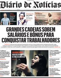 capa Diário de Notícias de 22 maio 2021