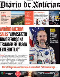 capa Diário de Notícias de 23 maio 2021
