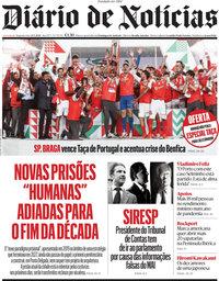 capa Diário de Notícias de 24 maio 2021