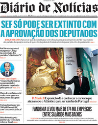 capa Diário de Notícias de 26 maio 2021