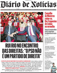 capa Diário de Notícias de 27 maio 2021