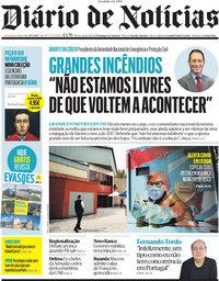 capa Diário de Notícias de 28 maio 2021