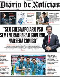 capa Diário de Notícias de 29 maio 2021