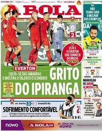 capa Jornal A Bola de 1 maio 2021