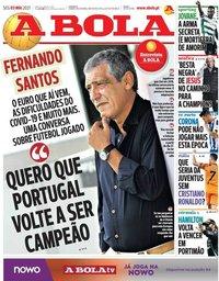 capa Jornal A Bola de 3 maio 2021