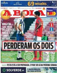 capa Jornal A Bola de 7 maio 2021