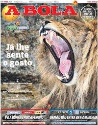 capa Jornal A Bola de 11 maio 2021