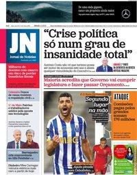 capa Jornal de Notícias de 1 maio 2021