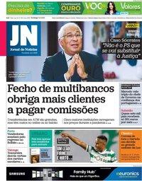 capa Jornal de Notícias de 2 maio 2021