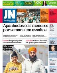 capa Jornal de Notícias de 4 maio 2021