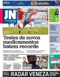 capa Jornal de Notícias de 7 maio 2021