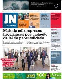 capa Jornal de Notícias de 8 maio 2021