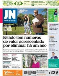 capa Jornal de Notícias de 9 maio 2021