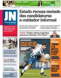 capa Jornal de Notícias de 11 maio 2021
