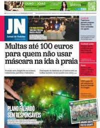 capa Jornal de Notícias de 13 maio 2021