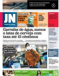 capa Jornal de Notícias de 15 maio 2021